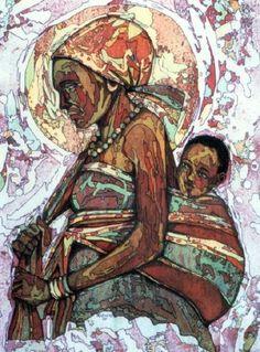 """Mother And Child"" by David Kibuuka #Art #Uganda"