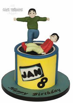Trampoline cake.