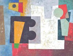 Burton Wasserman (b1929) : Composition. Whilst pursuing a career as an art professor, writer, and critic, Wasserman has continued actively to produce paintings, prints and sculpture. In his work of the 1960s the influence of the DeStijl movement, and consequently that of Reinhardt and Diller, is most strongly felt - simple geometric shapes, the use of only primary colours, and images reduced to a bare minimum.