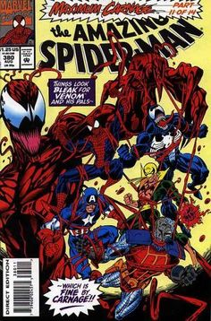 "The Amazing Spider-Man : Featuring Venom in ""Soldiers of Hope"" (Maximum Carnage - Marvel Comics): The Amazing Spider-Man : Featuring Venom in ""Soldiers of Hope"" (Maximum Carnage - Marvel Comics) Marvel Comic Books, Comic Book Characters, Comic Book Heroes, Marvel Dc Comics, Marvel Heroes, Comic Books Art, Spiderman Marvel, Caricature, Maximum Carnage"