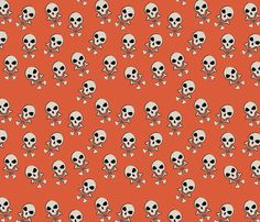 Dandy Skulls fabric by jwitting on Spoonflower - custom fabric