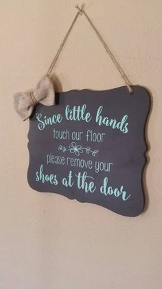 Please Remove Your Shoes Welcome Sign Door Sign by xFramesNThingsx