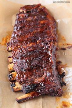 I've never stood my ribs up ... Makes sense #Bbqribs Slow Cooker Barbecue Ribs, Crock Pot Slow Cooker, Slow Cooker Recipes, Cooking Recipes, Crock Pot Ribs, Barbecue Sauce, Crock Pots, Slow Cooker Ribs Recipe, Bbq Pork