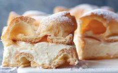 Falošný tvarohový koláč s famóznou ľahkou chuťou - pochutí si celá rodina! - Recepty od babky Eclairs, Apple Pie, Sweet Recipes, Camembert Cheese, Mashed Potatoes, Dairy, Ice Cream, Cookies, Cake