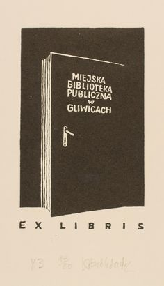 **Bookplate By Babkiewicz, Kazimierc for the city public library