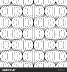 Vector seamless texture. Modern abstract background. Repeating geometric monochrome pattern with abstract figures.