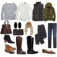 In search of a good military jacket that is not to boxy looking. I would wear all of these items except gray leggings and leopard shoes. Not big on animal prints. Oh New England. Adrette Outfits, Preppy Outfits, Winter Outfits, Preppy Wardrobe, Capsule Wardrobe, New England Fashion, New England Style, New England Prep, Preppy Fall Fashion