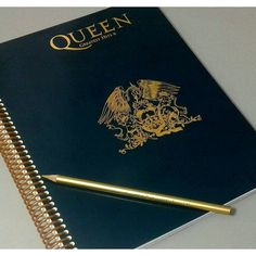 Queen, Freddie Mercury, Queen Art, Spiral Notebook, Notebook Cover,... ($18) ❤ liked on Polyvore featuring home, home decor and stationery