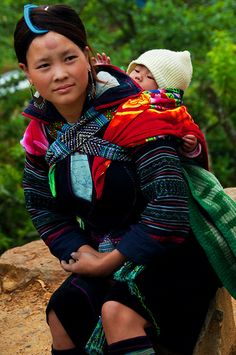 Hmong mom and baby, Vietnam
