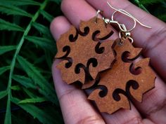 Laser Cut Floral Earrings Wood Laser Cut by DreamADesign Laser Cut Wood, Laser Cutting, Laser Cut Jewelry, Cut Work, Dog Tag Necklace, Floral Design, Carving, Crafty, Unique Jewelry