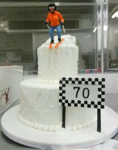 Carlo's Bakery 70th birthday ski slope cake 11-19-13, from their Facebook post.
