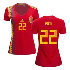 7f1fd8d069 adidas Womens Spain Isco  22 World Cup 2018 Jersey (Home)   SoccerEvolution