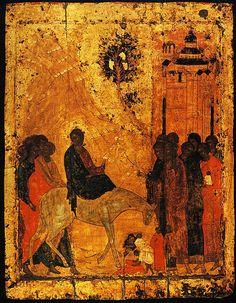 """"""" L'Entrée du Christ â Jérusalem """" 1405, Andreī Roublev"""