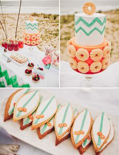 Beach and Surf theme dessert table: a super cute wedding or party theme