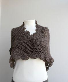Cuello de bufanda Chocolate Brown triángulo Midi por denizgunes, $54.00