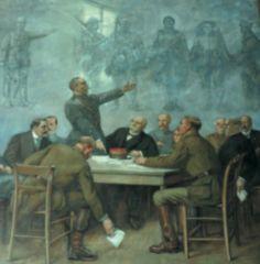 Loucheur, Weygand, Foch, Wilson, Clemenceau, Pétain, Montgomery, Haig, Poincaré, Milner. © Ville de Doullens.