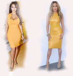 yellow dress, Kim Kardashian VS Jennifer Lopez (JLo) fashion diva who-wore-it-better celeb celebrity