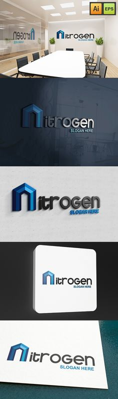"@Behance projeme göz atın: ""N Letter Logo - Nitrogen Logo""…"