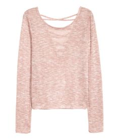 H&M fine-knit top in Pale Pink