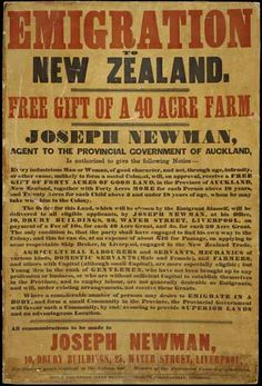 New Zealand Emigration Poster Nz History, Family History, Vintage Travel Posters, Vintage Ads, Kiwiana, History Of Photography, The Beautiful Country, New Zealand Travel, Interesting History