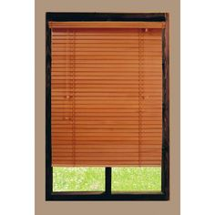 Home Decorators Collection Cut to Width Golden Oak 2 in. Basswood Blind - 39 in. W x 64 in. L (Actual Size 38.5 in. W x 64 in. L )
