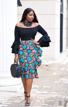 A collection of the best and Latest Casual African Ankara Styles. These casual ankara styles and casual ankara designs were specifically selected for your taste of casual ankara styles African Fashion Skirts, African Print Fashion, Africa Fashion, Fashion Prints, Skirt Fashion, Fashion Design, African Prints, Fashion Styles, Fashion Ideas