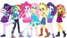#1588606 - absurd res, applejack, equestria girls, fluttershy, humane five, humane seven, humane six, mane six, official, official art, pinkie pie, rainbow dash, rarity, safe, sci-twi, shoes, sneakers, spoiler:eqg series, sunset shimmer, transparent background, twilight sparkle - Derpibooru - My Little Pony: Friendship is Magic Imageboard