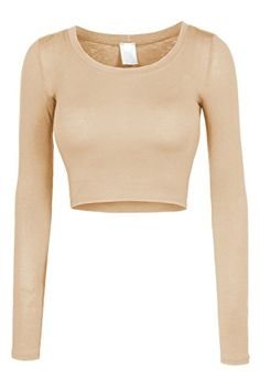 LE3NO Womens Fitted Long Sleeve Crop Top with Stretch LE3NO http://www.amazon.com/dp/B00Q3XB5ES/ref=cm_sw_r_pi_dp_zAuwwb094E63Z