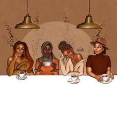 Beautiful Black Hair, Black Love Art, Black Girl Art, Black Girl Magic, Art Girl, Drawings Of Black Girls, Black Girl Cartoon, Black Artwork, Black Girl Aesthetic
