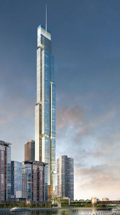 on Behance Future Buildings, City Buildings, Modern Buildings, Unique Architecture, City Architecture, Futuristic Architecture, Tower Building, High Rise Building, Classification Des Arts