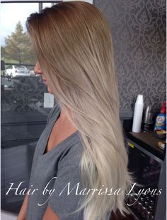 ash ombre to silver