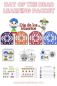 Help kids learn more about the traditional Mexican celebration Dia de los Muertos with our free printable Day of the Dead learning packet.