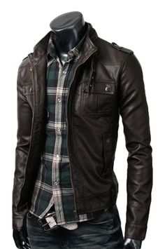 Spring Deal on this Strap Pocket Dark Brown Jacket especially made for spring season