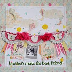 Brothers make the best friends * My Creative Scrapbook * - Scrapbook.com