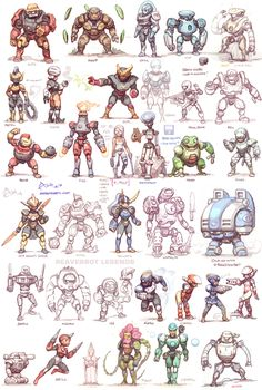 Game Character Design, Character Design Inspiration, Character Concept, Character Art, Cartoon Drawings, Cartoon Art, Arte Ninja, Android Art, Robot Concept Art