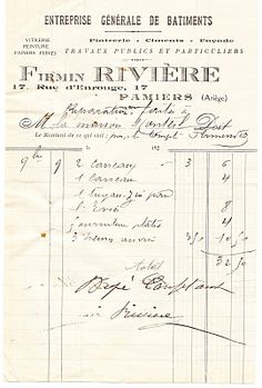 Gorgeous French Ephemera Image - Old Invoice - The Graphics Fairy
