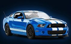Car  Radio Remote Control 114 Ford Mustang Shelby GT500 RC Model Car Blue >>> More info could be found at the image url.