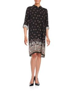 Design Lab Lord & Taylor Paisley Print Shirtdress Women's Black X-Smal Design Lab, Shirtdress, Lord & Taylor, Go Shopping, Paisley Print, What To Wear, Clothes, Black, Dresses