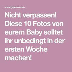 Nicht verpassen! Diese 10 Fotos von eurem Baby solltet ihr unbedingt in der ersten Woche machen!