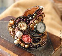 "Часы ручной работы. Ярмарка Мастеров - ручная работа Браслет с часами ""Pretty Vintage"". Handmade."