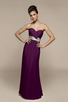 Pretty, and the right colors!  Also has sleeve options, for the girls that need them . Dark purple option-- OMG I want these as my bridesmaid dresses!!