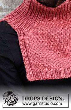 Sweater Knitting Patterns, Knitting Stitches, Knit Patterns, Free Knitting, Drops Patterns, Knit Cowl, Knit Crochet, Knitted Balaclava, Knitted Shawls