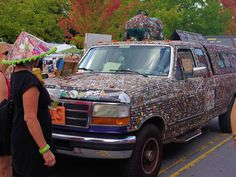 Bottle cap truck at LAAFF in downtown Asheville. (10,000 of them!)