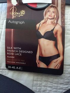 M&S Rosie for AUTOGRAPH SILK with French ROSE LACE Plunge Bra UK40E BNWT Granite | eBay