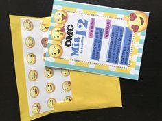 emoji party invites  www.nicolereyesdesign.etsy.com