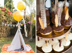 teepee themed birthday party