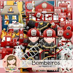 Kit Digital Bombeiros by Simone Rocha