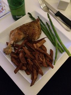 Cuisse de pollo and frites