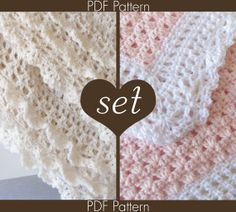 2 Crochet PATTERN SET - 41 and 89 - Crochet Baby Blanket Patterns - Angel Series 41 and Victorian Series 89 - Instant Download PDF