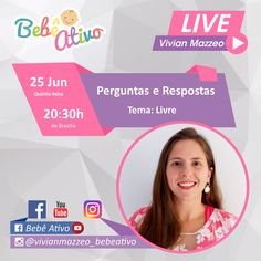 Nossa LIVE de hoje...  Coloque suas perguntas nos comentários.  Respondo ao vivo na live as 20:30h de Brasília.  Até mais tarde  Beijo Vivian Mazzeo  #bebeativo #vivianmazzeo #bercario #creche #educacaoinfantil #professoradobercario #professoradoberçário #bercarista #berçarista #bebenaescola #estimulacaoparabebes #bercario1 #bercario2 #berçário1 #berçário2 Live, Riddle Questions And Answers, Kiss, Living Alone, Childhood Education, School
